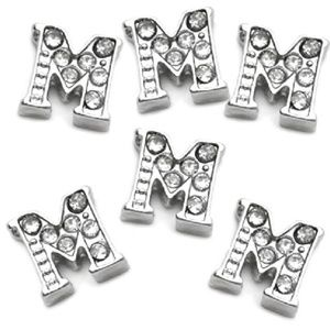 Letter M Floating Charm for Picture Locket